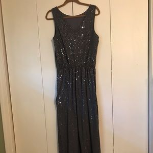 Garnet Hill sequin maxi Size M. New w/out Tags